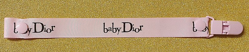 Baby Dior Pink and Black Dummyclip