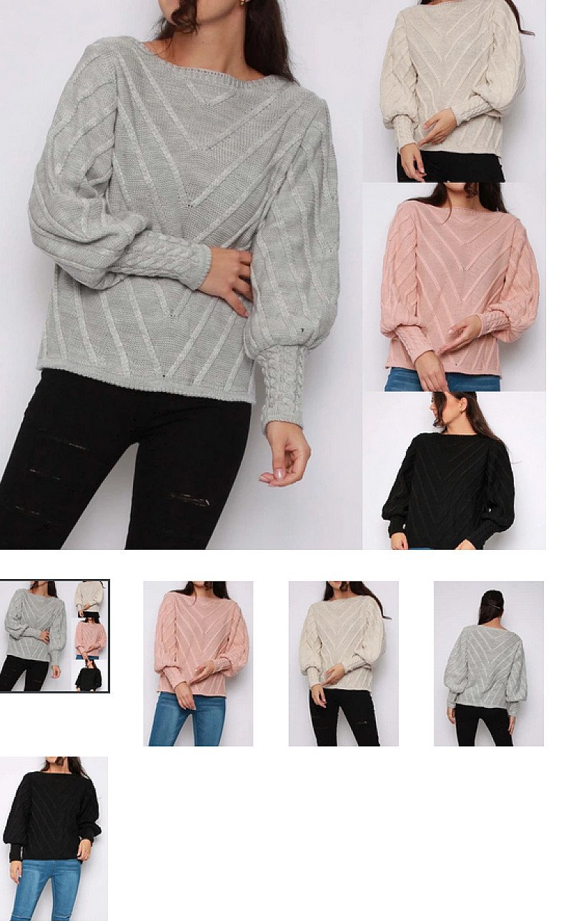 Cable Knit Patterned Jumper (BB)