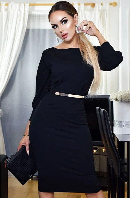 Belt Detail Black Dress - Fast Selling at £24.99 only!