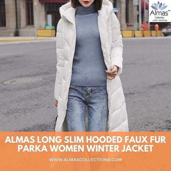 Winter Hood Stand Collar Long Parka Coat