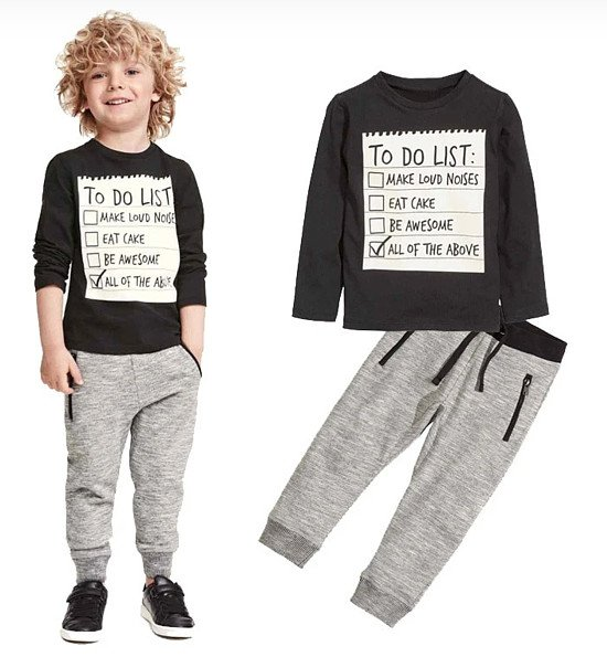 To-Do List 2-pieces Set for Boys!  Now available for only £14.99!