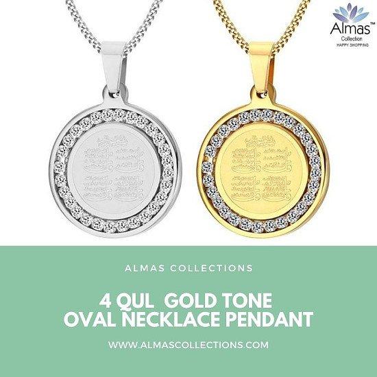 4 Qul Pendant Necklace Gift Hajj Umrah