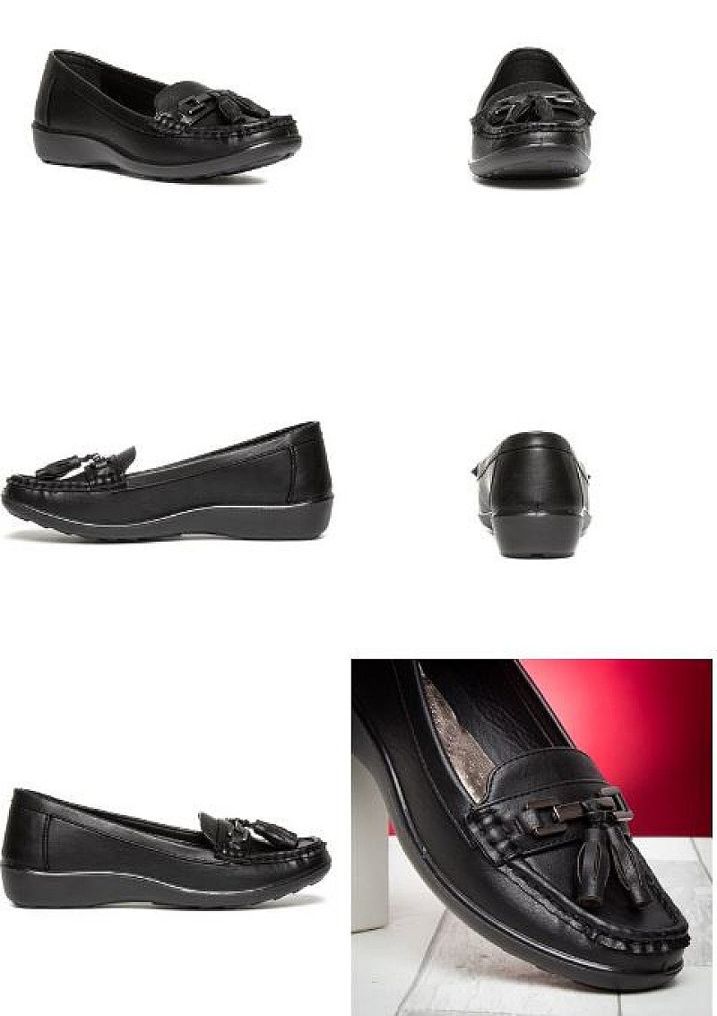 SAVE 23% - Womens Casual Slip On Loafer in Black!