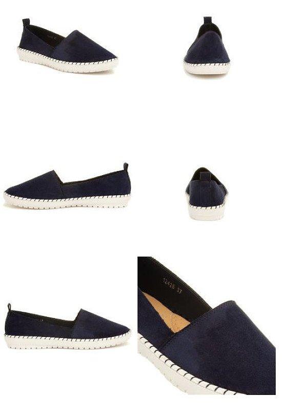 SAVE 33% - Bliss Womens Navy Slip On Flat Shoe!