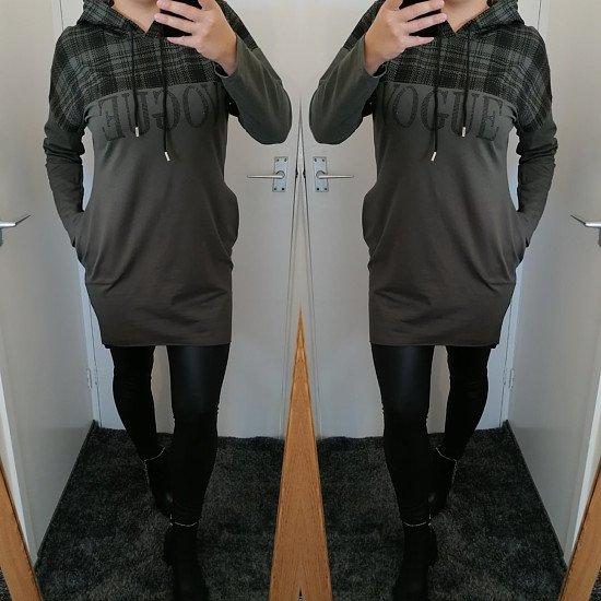 Ava Vogue Pocket Dress - Khaki
