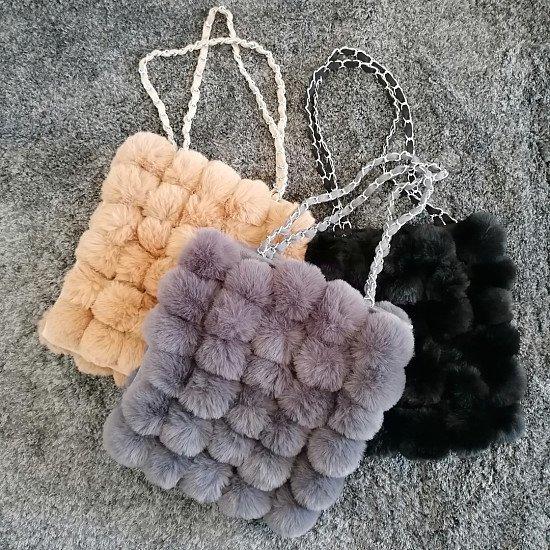 Natalie Faux Fur Handbag - 3 colours