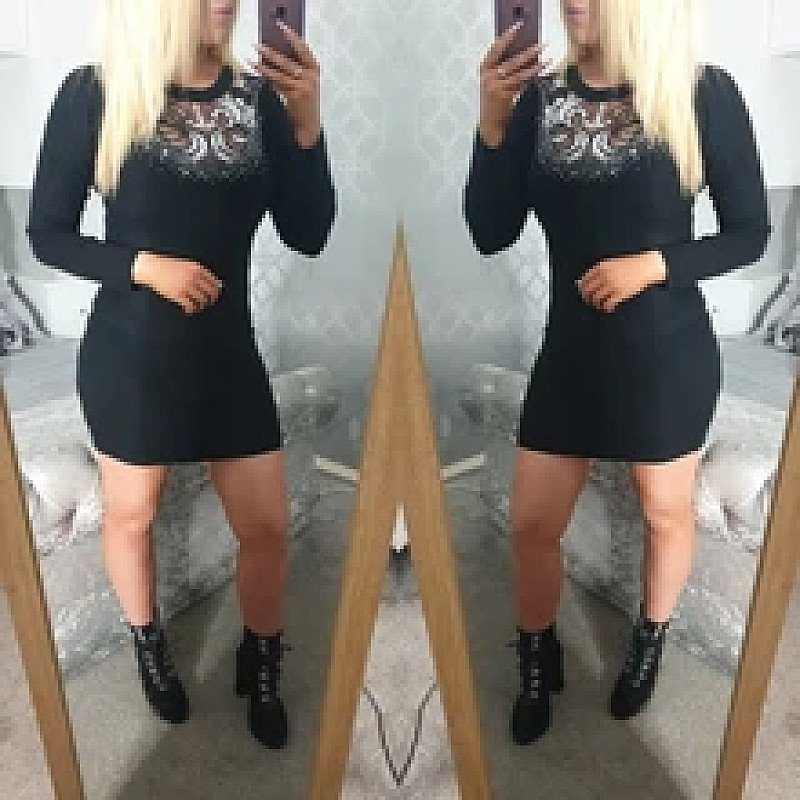 Jemma Sequin Jumper Dress (BB)