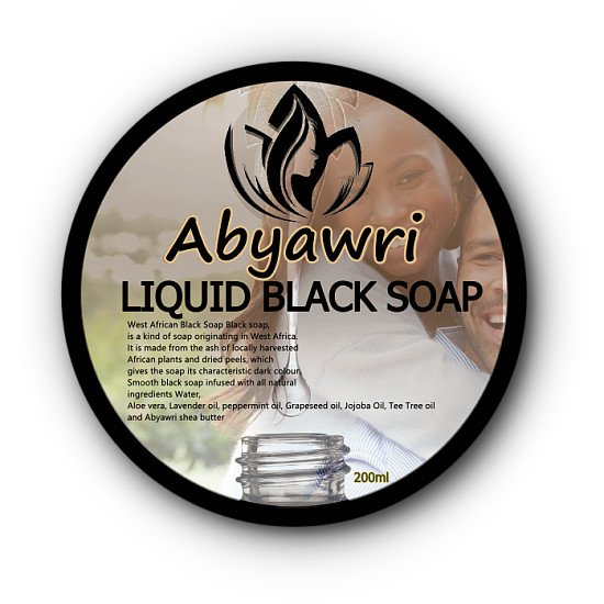 Abyawri Liquid Black Soap 200ml
