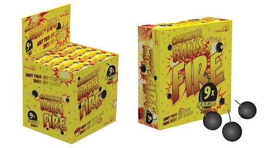 DIY BONFIRE NIGHT - Crackling Balls Of Fire (Pack Of 9)!