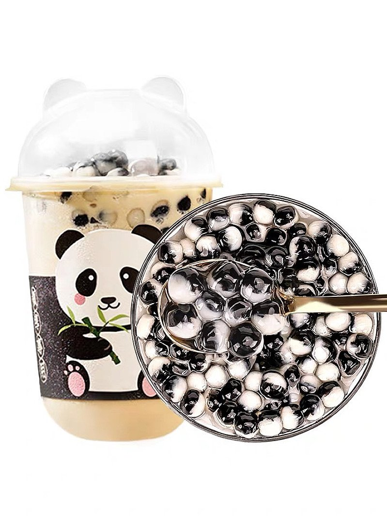 Bubble waffle with bubble tea or coffee