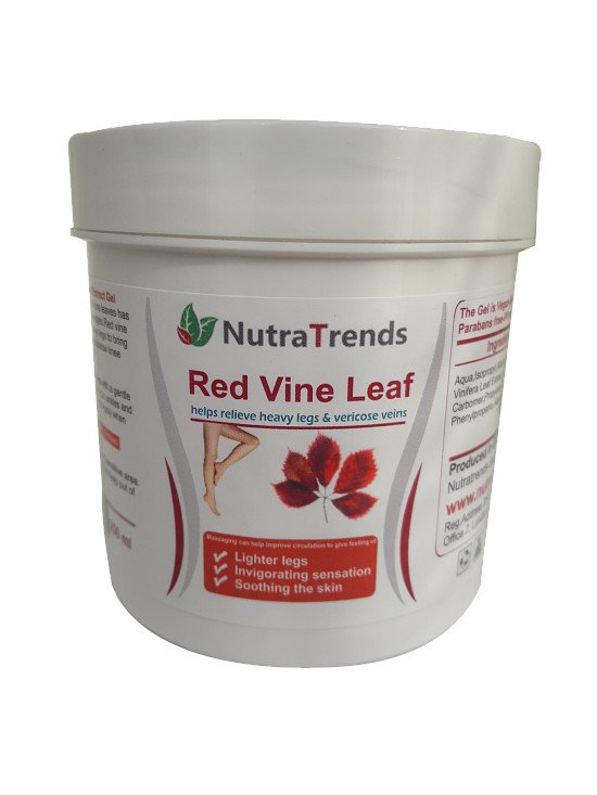 Red Vine leaf extract gel for Varicose Veins ,tired and heavy legs fast relief 250ml Vegan natural