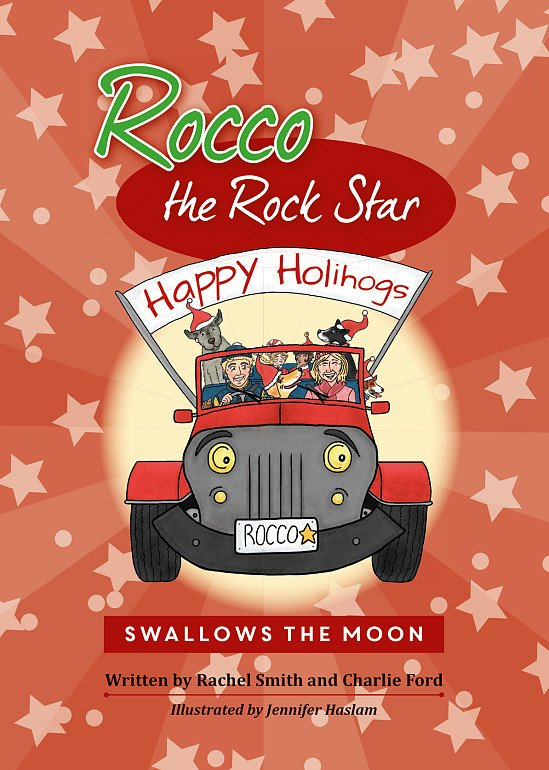 New Children's Christmas Book - Rocco the Rock Star Swallows the Moon