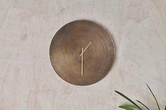 Okota Wall Hung Clock - Antique Brass: £59.95!