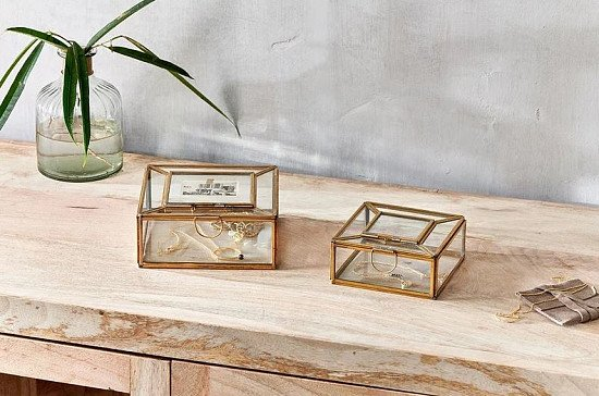 Handmade Jewellery Christmas Gifts - Nalou Jewellery Box With Frame: £24.95!