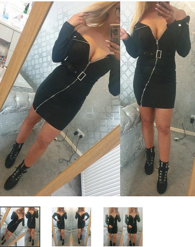 Alana Faux Suede Dress (BB)