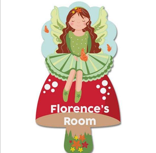 Personalised Fairy Bedroom Door Plaque
