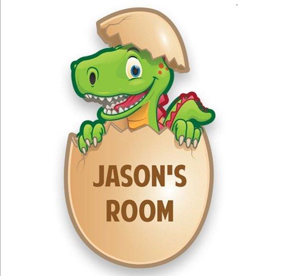 Personalised Dinosaur Bedroom Door Plate