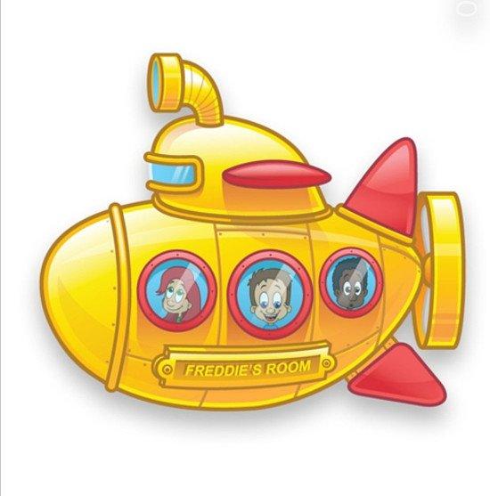 Personalised Yellow Submarine Door Plate