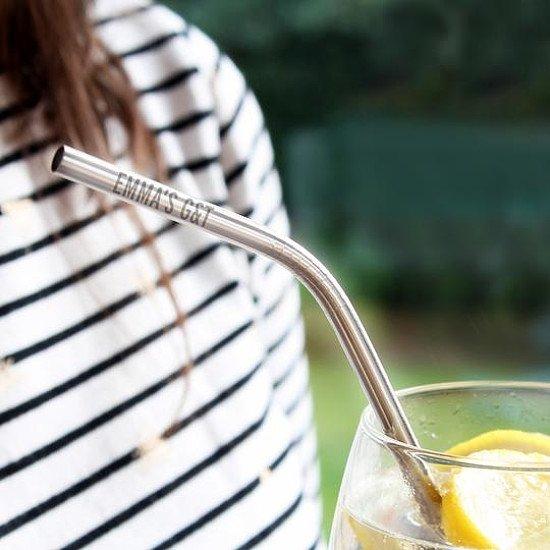 Personalised Reusable Eco Steel Straw