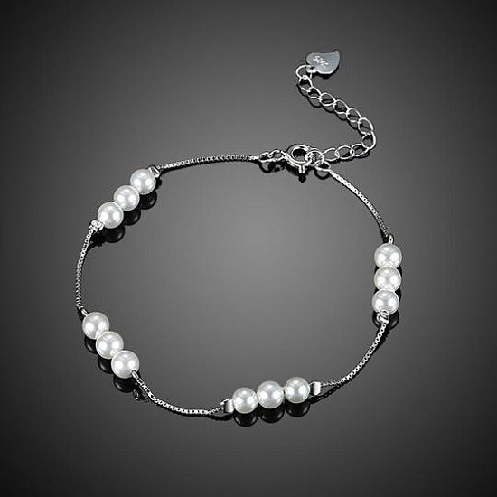 Top Seller || 30% OFF Sterling Sliver Twelve Pearl Bracelet || FREE UK Shipping
