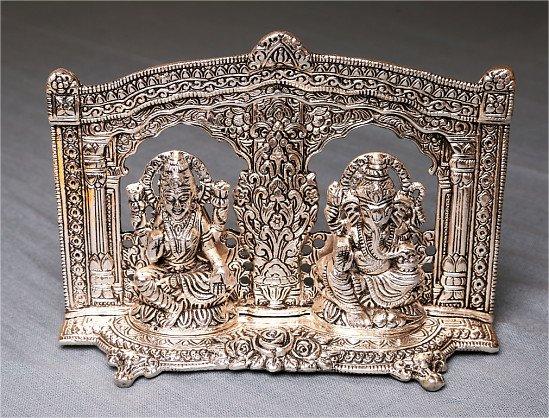 Silver Laxmi Ganesh 10% Off
