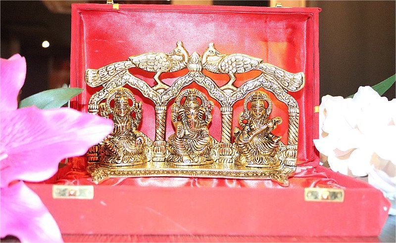 Gold Laxmi Ganesha and Saraswati 10% OFF