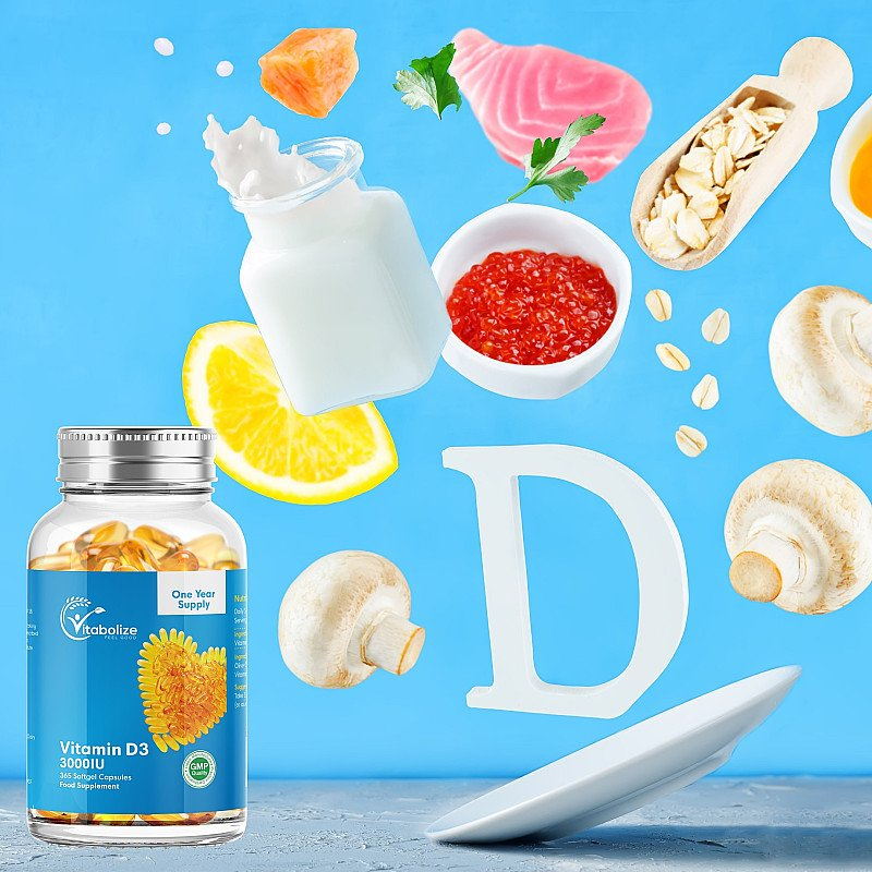 Save £1.98 on Vitabolize Vitamin D3 3000iu Softgels and FREE Delivery
