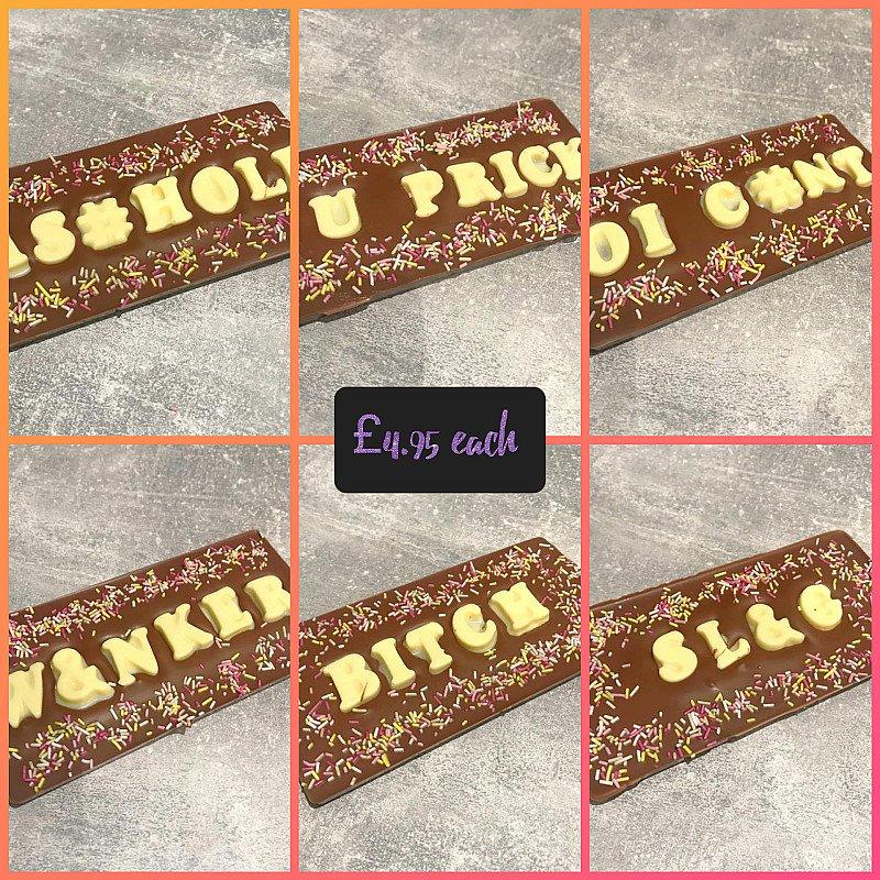 Chocolate insult bars