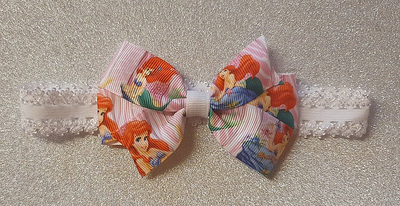 Ariel Mermaid Hairbow or Headband