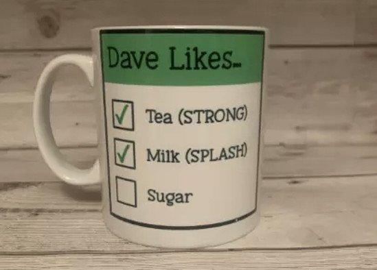 Tea / Coffee - How do you like it ? Personalised Mug