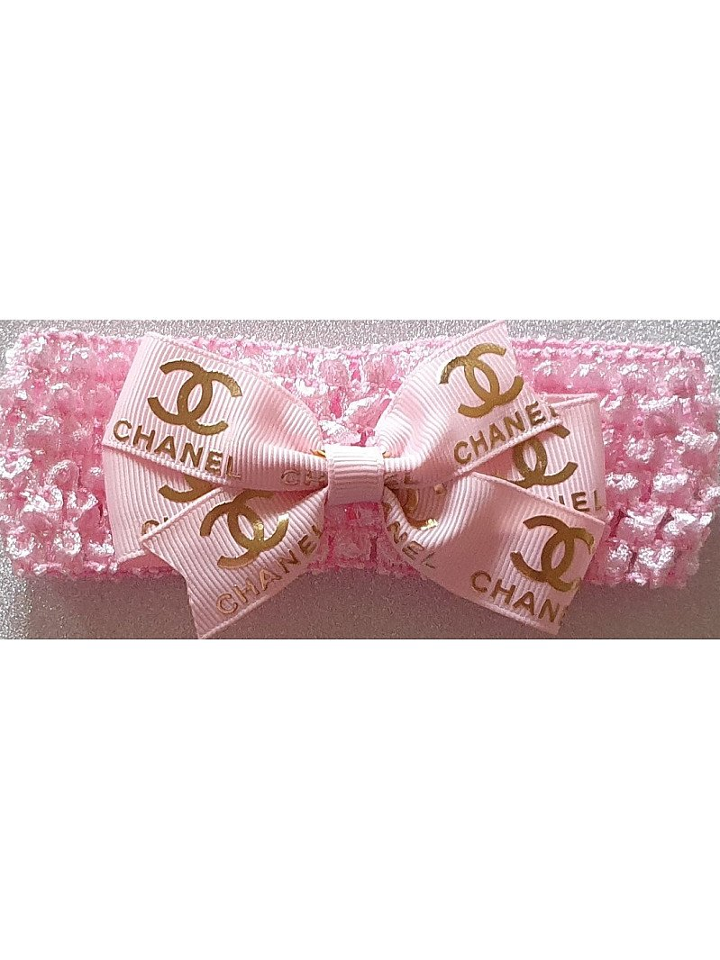 Pink and Gold Chanel Headband
