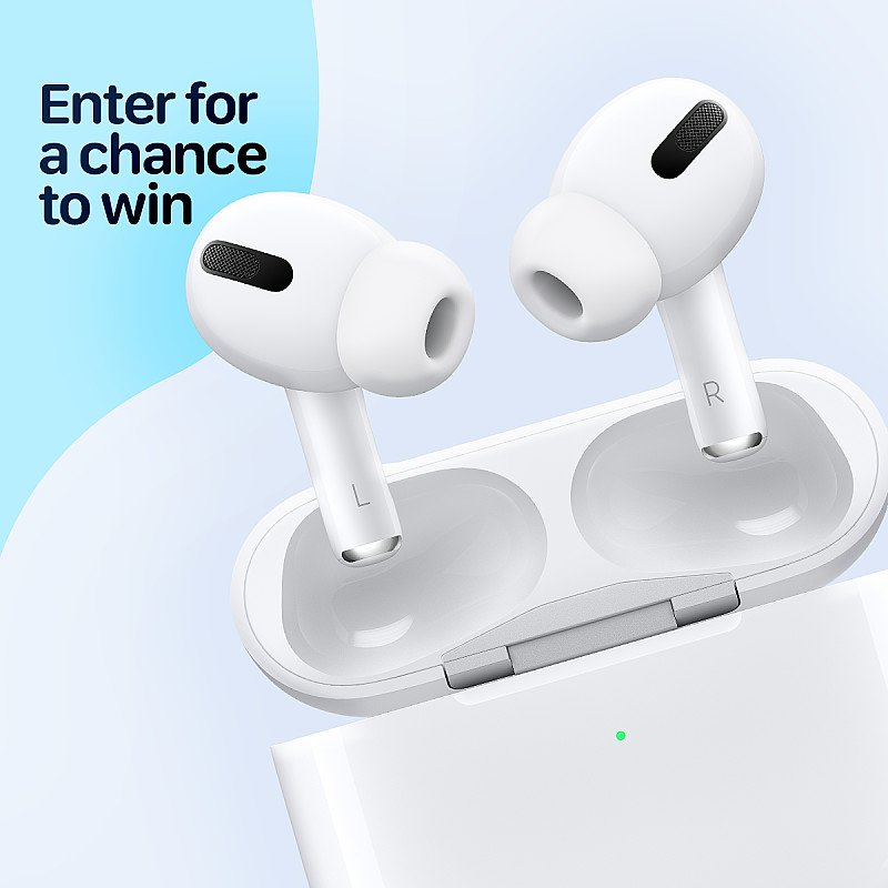WIN the New Apple AirPods Pro with Charging Case