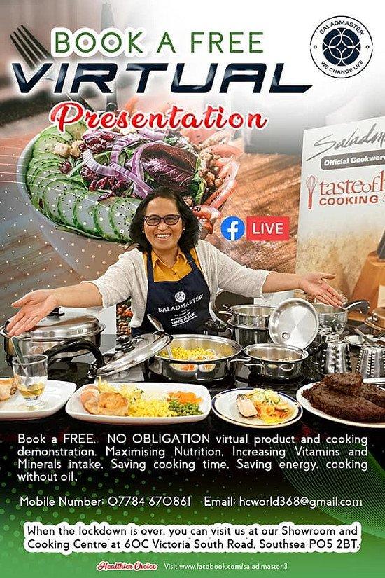 Virtual Healthy Cooking Presentation