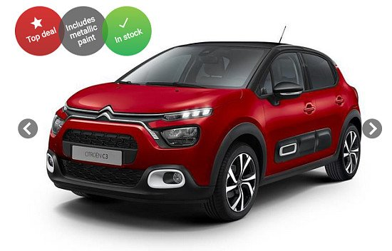 Citroen C3 with CASHBACK