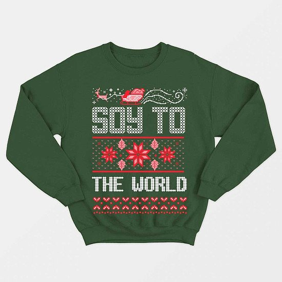 Soy To The World - Vegan Christmas Jumper (Unisex) - Only £35!