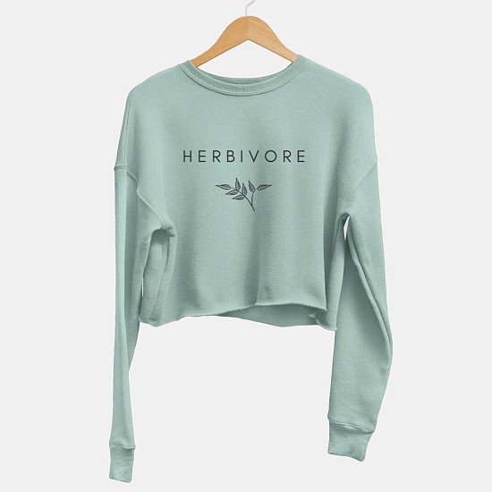 Herbivore Classic - Cropped Sweatshirt: Only £45!