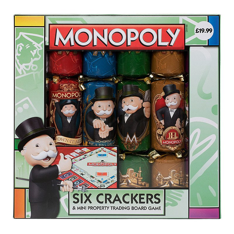 Half Term - Monopoly Novelty Crackers (Pack of 6)