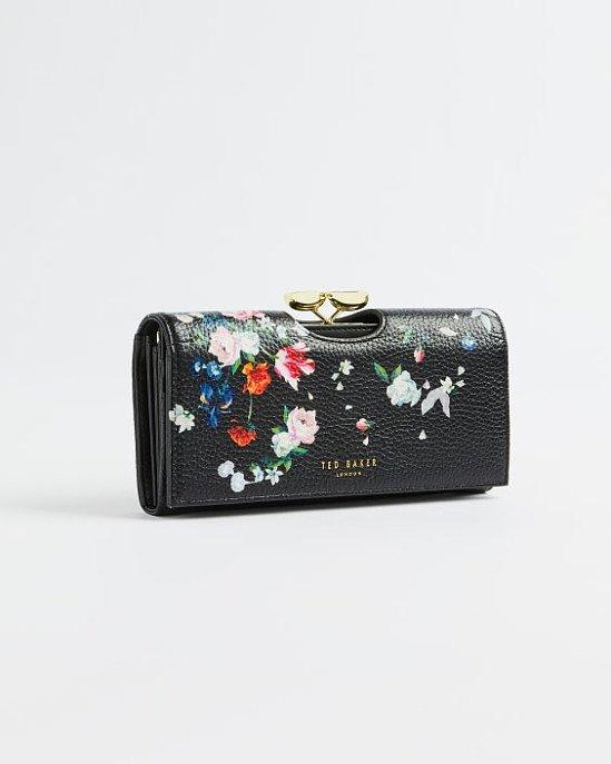 SALE - Sandalwood leather teardrop matinee purse!