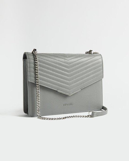SALE - Leather quilted envelope cross body bag!