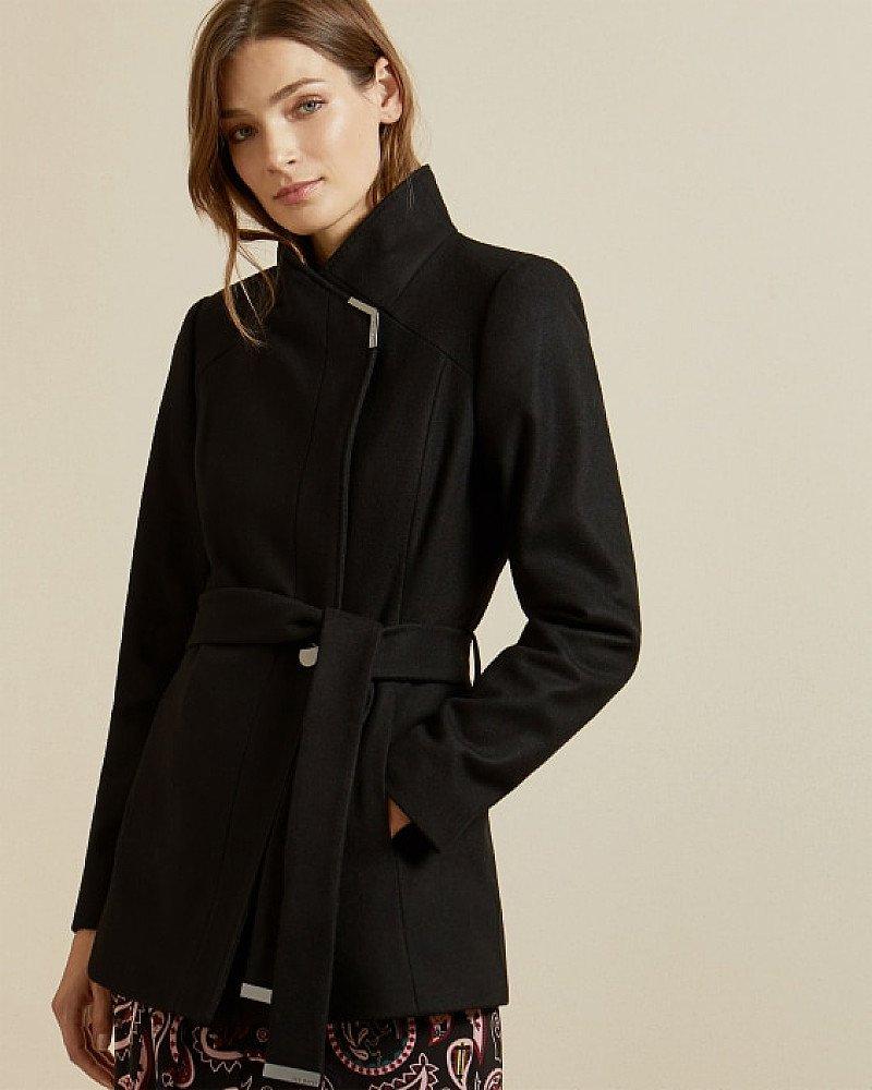 SALE - Short belted wool wrap coat!