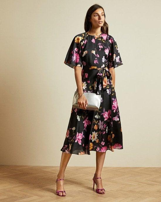 SALE - Rhubarb midi tea dress!