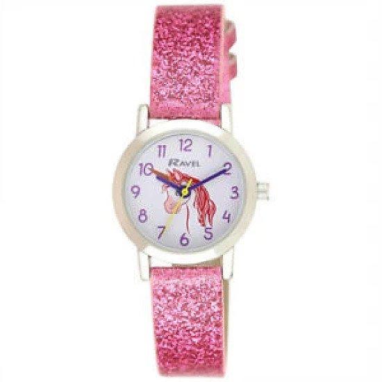 Girls Pink Sparkle Watch