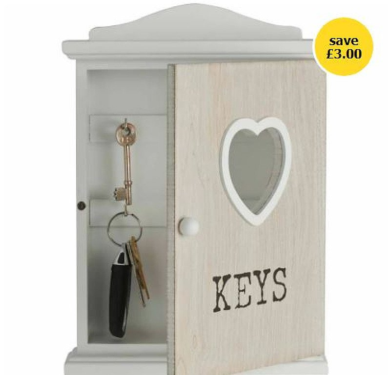 Home Accessories Sale - Wilko Key Storage Box!