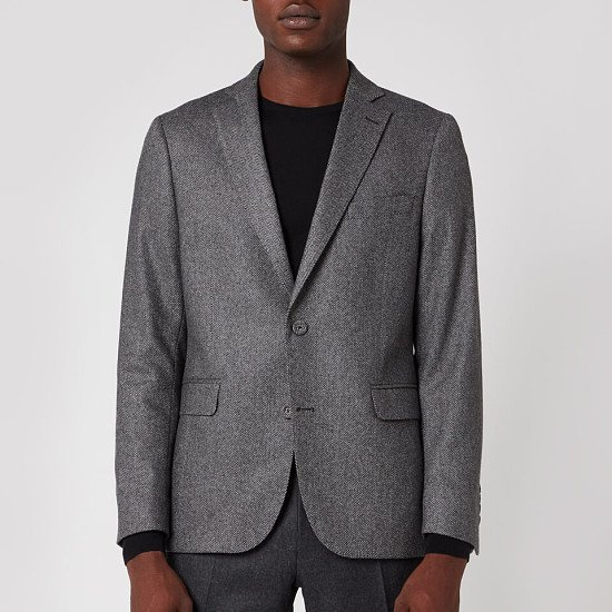 SALE - Officine Generale Men's 375 Herringbone Jacket - Grey!