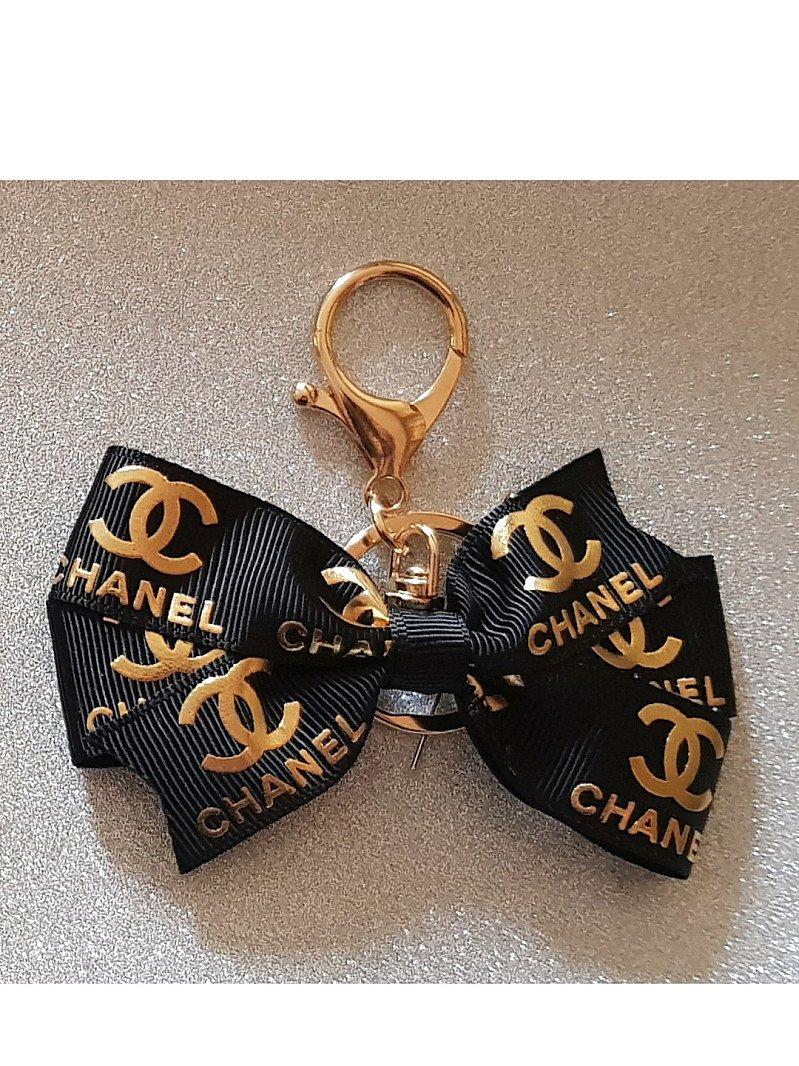 Black and Gold Chanel Bagcharm Keyring