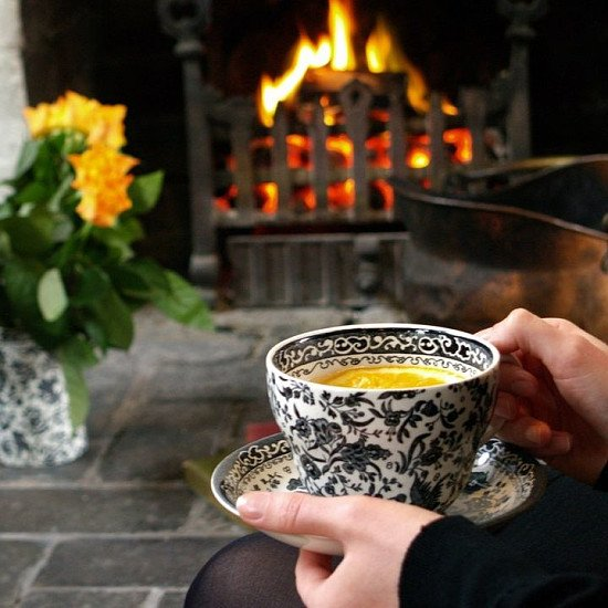Black Regal Peacock Breakfast Cup and Saucer - £40.00!