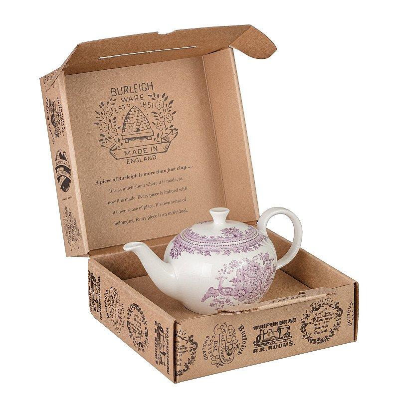 Plum Asiatic Pheasants Teapot Gift Set - £66.00!