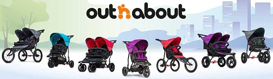 Check out the full Out'n'about range with us! From strollers, carrycots and nippers - we have it all