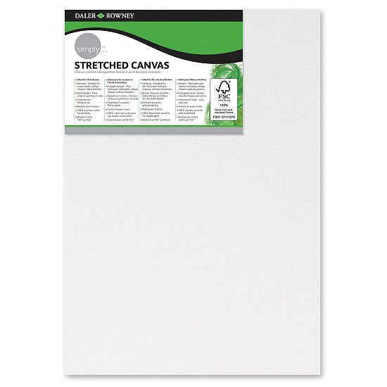 Pack of 3 Daler-Rowney Simply Stretched Canvases - 8 x 21cm:£6.00!
