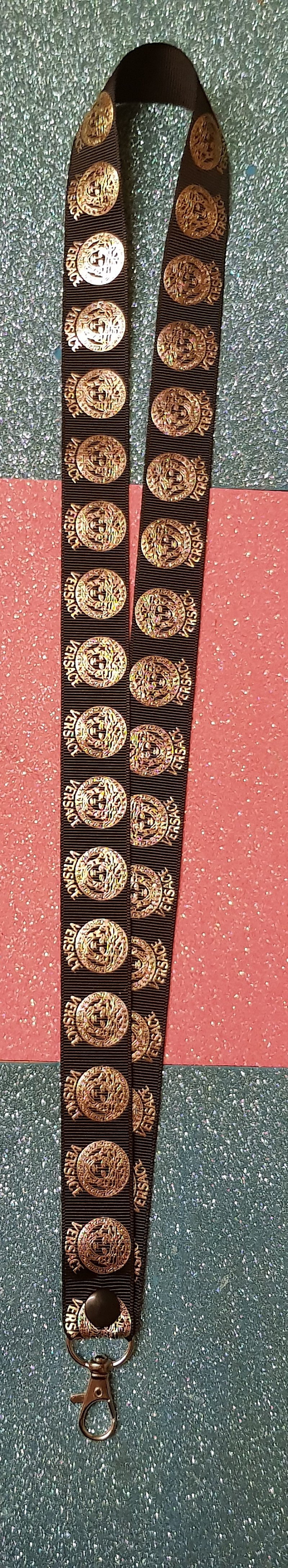 Versace Lanyard Id Badge Holder